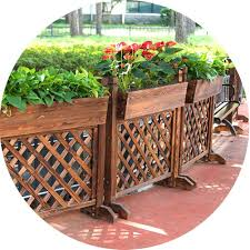 Zengai Plant Stand Flower Pot Shelf Outdoor Plant Stand Antiseptic Wood Fence Partition Flower Stand Garden Fence Outdoor Balcony Patio Decorative Flower Pot Stand Plantable Flowers Amazon Co Uk Garden Outdoors