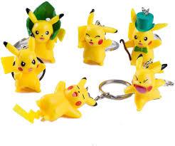 6 Pcs Pokemon Pikachu Keychain, Pokemon Pikachu Toys 3D Model ...