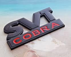 Black Red Metal Svt Cobra Emblem Fender Badge Sticker Decal For Ford Mustang Walmart Com Walmart Com