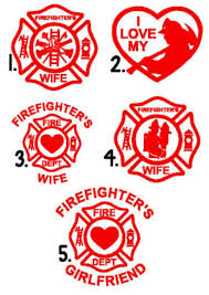 Firefighter S Wife Decal Fightfighter Car Decal Etsy Firefighter Firefighter Wife Firefighter Crafts