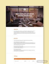 restaurant interior design proposal