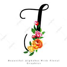 الأبجدية حرف T ألوان مائية الزهور الخلفية ألوان مائية اللون