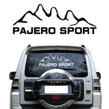 Car Sticker 1pcs Window Sticker Mountains Styling Graphic Vinyls Car Decal For Mitsubishi Pajero Sport Car Stickers Aliexpress