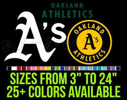 Oakland A S Decal Etsy