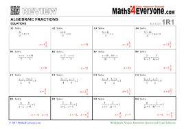 algebraic fractions gcse revision