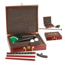 executive golf gift set rosewood
