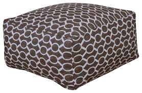 Chocolate Sydney Geometric Floor Pouf Kids Play Room Nursery Ottoman Transitional Floor Pillows And Poufs By Hearth And Home