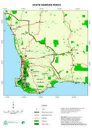 Current Western Australian State Barrier Fence Sbf By Dafwa Geographic Information Services