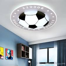 2020 Creative Dimmable Color Football Ceiling Lights Round Lamp Black Blue Red Hanging Lights Children Kids Room Nordic Ceiling Lamp From Rangcy2008 100 26 Dhgate Com
