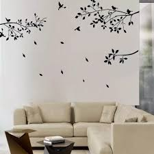 Fashion Black Tree Branches Birds Leaves Home Wall Stickers Living Room Decals Home Room Decoration Wall Craft Tree Branch Wall Stickerhome Wall Stickers Aliexpress