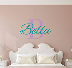 Custom Name Girls Boys Wall Decal Monogram Personalized Name Wall Decal Sticker Art Name Vinyl Wall Decal Name And Initial Decal Nursery Room Wall Decor Baby Name Decal Handmade F81zqjytz