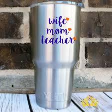 Wife Mom Teacher Decal Dash Of Flair