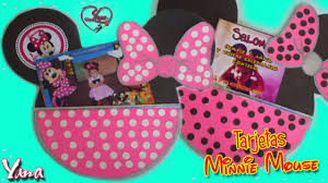 Tarjetas De Invitacion Fiesta De Minnie Mouse 1 Ano Yanacol