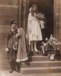 1919 (May Queen Ida Rose Jackson, Crown Bearer Donald Harlow) – Knutsford  Royal May Day
