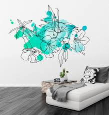 Floral Watercolor Marine Decal Wall Tattoo Modern Homes On Luulla