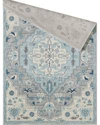 Spectacular Savings on Melva Blue/Beige/Gray Area Rug Bungalow Rose Rug  Size: Rectangle 4' x 6'
