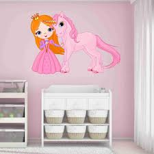 Princess And Unicorn Wall Decal Style And Apply