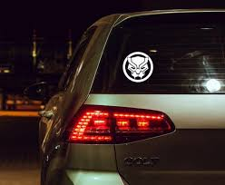 Black Panther Wakanda Forever Mask Car Decal Etsy