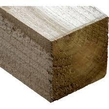 Timber Fence Post 75mm X 75mm X 2 4m 3 X3 X8 Brown Milford