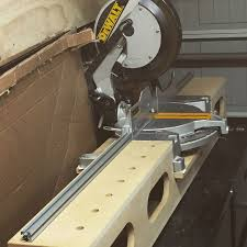 Mitar Station With 96mm Holes For Fence And Stop Blocks Miter Saw Shop Storage Woodworking