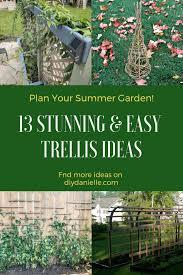 13 stunning easy garden trellis ideas