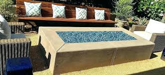outdoor fire pit glass stones hide