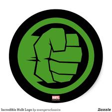 Incredible Hulk Logo Classic Round Sticker Zazzle Com Logo Hulk Incredible Hulk Avengers Symbols