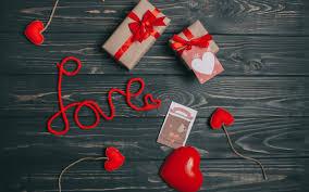 تحميل خلفيات الحب المفاهيم الهدايا بطاقات الحرير الأحمر القوس