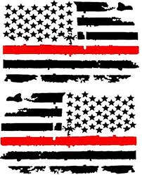 Amazon Com Distressed Thin Red Line American Flag Vinyl Decal Dark Grey 1 Left 1 Right 0064 Garden Outdoor