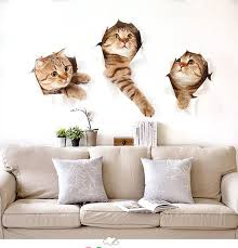 3d Simulation Cat Wall Stickers Cute Animals Kid Room Stickers Diy Sticker Living Room Home Decor 3 Cats Pet Shop Decoration Kids Bedroom Wall Stickers Kids Removable Wall Decals From Yiyu Hg 1 8