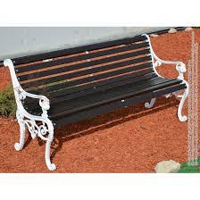 cast iron garden bench with backrest