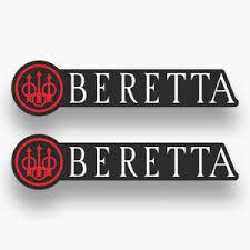 2x Beretta Sticker Decal Vinyl Car Firearms Piston Handgun Logo Truck Rifles Ebay