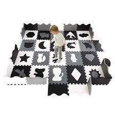 Han Mm Baby Play Mat Foam Puzzle Mat 20pcs With Fence Interlocking Thick 0 56 Quot Foam Floor Tiles For Ki Baby Playroom Toddler Playroom Baby Play Mat Foam