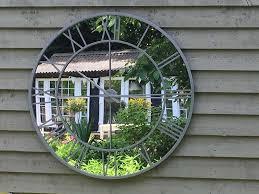 giant outdoor mirrored round garden