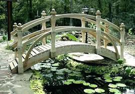 wooden garden bridge kits bridges wood