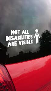 Cystic Fibrosis Not All Disabilities Are Visible Car Sticker Etsy