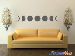 Moon Phases Vinyl Wall Decal Room Home Decor