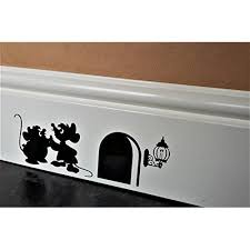 Funny Mouse Hole Wall Sticker Gus And Jaq The Cinderella Mice Skirting Board Wall Art Sticker Vinyl Decal Disney Room Decor Disney Decor Disney House Ideas