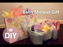 diy easy fast baby shower gift for