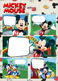 Para Convite Invitaciones Mickey Cumpleanos De Mickey Mouse