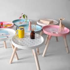 Nordic Style Kids Room Play Desk Modern Round Wooden Storage Side Table Nursery Home Kids Furniture Accessories 40x35cm Children Tables Aliexpress