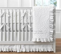 ruffle crib bedding sets pottery barn