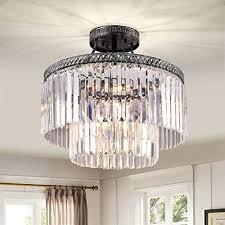 flush mount crystal chandelier modern