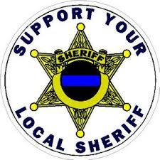Support Your Local Sheriff 6 Point Badge Sticker At Sticker Shoppe