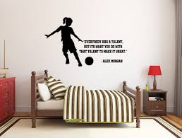 Girl Soccer Wall Decal Soccer Player Wall Sticker Soccer Etsy In 2020 Wall Decals Baby Room Decals Wall Quotes Decals
