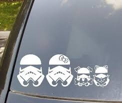 Stormtrooper Family Car Sticker Now With Stormtrooper Cat And Etsy