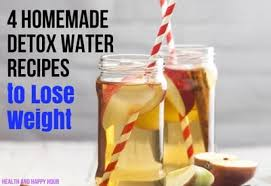 4 homemade detox water recipes to lose