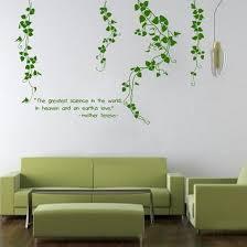 Flower Vine Living Room Mural Decor Removable Art Vinyl Wall Stickers Decals Wandgestaltung Aufkleber Fur Wande Haus Deko