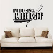 Barbershop Vinyl Wall Decal Hair Cut Shaves Stylist Wall Sticker Hair Salon Decoration Barber Shop Window Vinyl Sticker Ay1123 Stickersmegastore Com