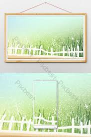 Hand Drawn Cartoon Grass Fence Illustration Element Illustration Psd Free Download Pikbest